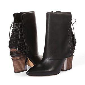 Sam Edleman Martina Black Leather Booties 6